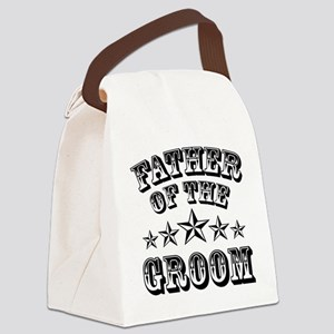 Cool Father Of The Groom Wedding Canvas Lunch Bag